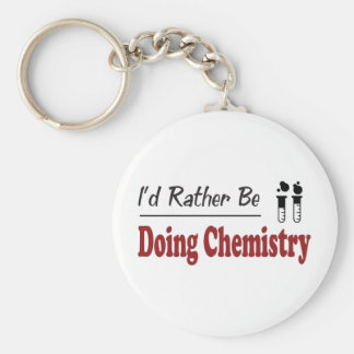 Rather Be Doing Chemistry Keychain