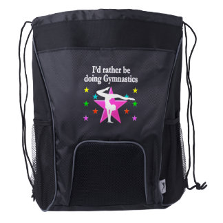 RATHER BE DOING GYMNASTICS DESIGN DRAWSTRING BACKPACK