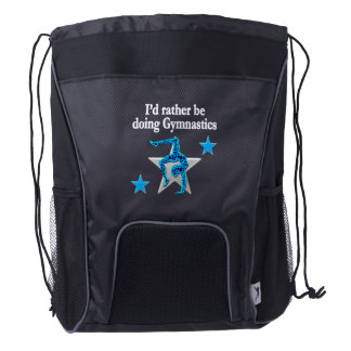 RATHER BE DOING GYMNASTICS DRAWSTRING BACKPACK
