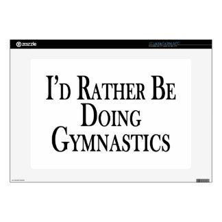 Rather Be Doing Gymnastics Laptop Skins