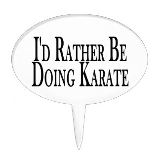 Rather Be Doing Karate Cake Topper