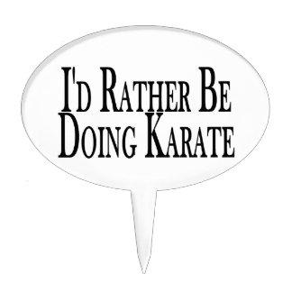 Rather Be Doing Karate Cake Picks