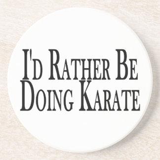 Rather Be Doing Karate Coaster