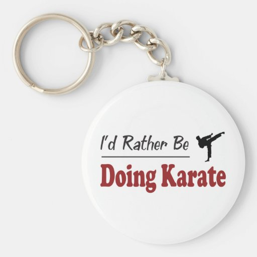 Rather Be Doing Karate Key Chains