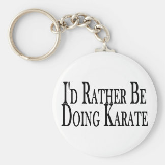 Rather Be Doing Karate Keychain