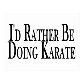 Rather Be Doing Karate Postcard