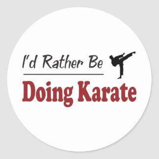 Rather Be Doing Karate Sticker