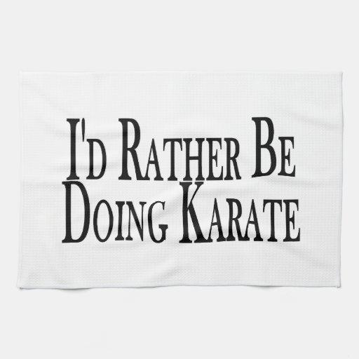 Rather Be Doing Karate Towel
