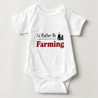 Rather Be Farming Baby Bodysuit