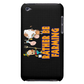 rather be farming cute cartoon farmer and cows barely there iPod covers