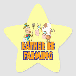 rather be farming cute cartoon farmer and cows stickers