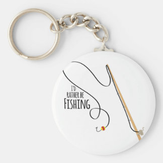 Rather Be Fishing Basic Round Button Keychain