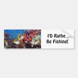Rather Be Fishing Car Bumper Sticker