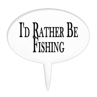 Rather Be Fishing Cake Topper