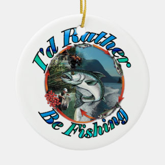 Rather be fishing christmas tree ornament