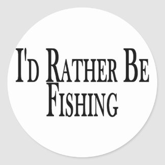 Rather Be Fishing Classic Round Sticker