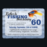 """Rather Be Fishing Custom Birthday Party Invitation<br><div class=""""desc"""">Humorous birthday styling for the man who loves to fish! Celebrate that special guy's big day with funny """"rather be fishing"""" sentiments! Perfect for a birthday dinner or family get-together. Easy customization! Simply replace the template text with your own details. Click the """"Customize It"""" button to change fonts, add additional...</div>"""