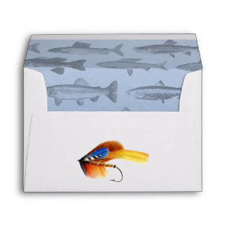 Rather Be Fishing Custom Birthday Party Invitation Envelope