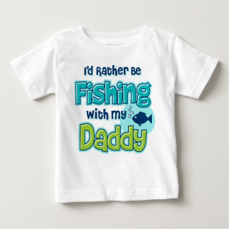 Rather Be Fishing Dad Baby T-Shirt