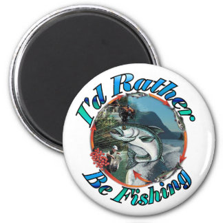Rather be fishing fridge magnets