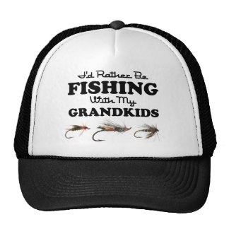 Rather Be Fishing Grandkids Mesh Hats