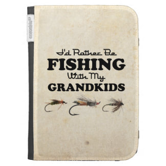 Rather Be Fishing Grandkids Kindle Cases