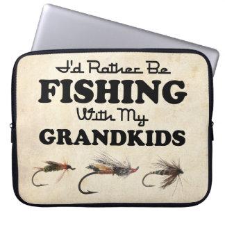 Rather Be Fishing Grandkids Laptop Computer Sleeves
