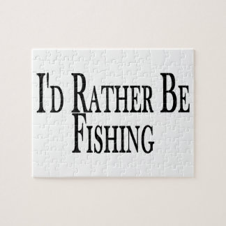 Rather Be Fishing Jigsaw Puzzle