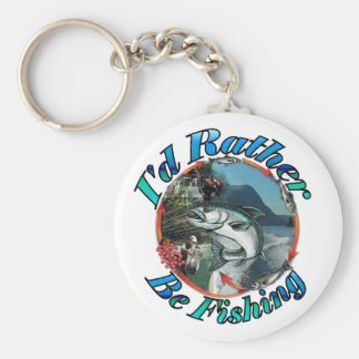 Rather be fishing key chains