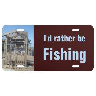 Fishermen license plates zazzle for Fishing license plate