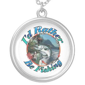 Rather be fishing pendant