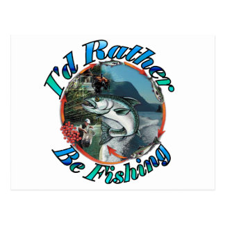 Rather be fishing post cards