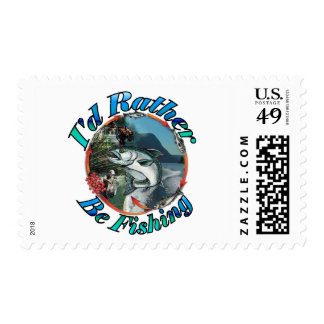 Rather be fishing postage