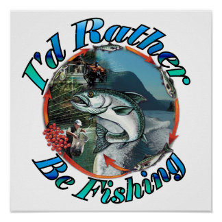 Rather be fishing print