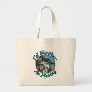 Rather be fishing tote bags