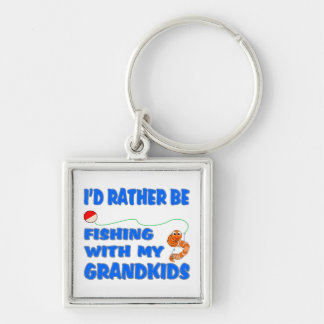 Rather Be Fishing With Grandkids Key Chain