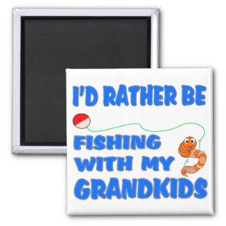 Rather Be Fishing With Grandkids Magnets