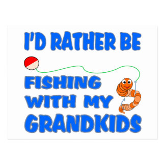 Rather Be Fishing With Grandkids Postcard