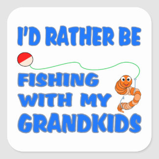 Rather Be Fishing With Grandkids Square Sticker