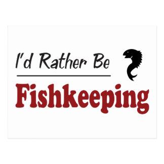 Rather Be Fishkeeping Postcard