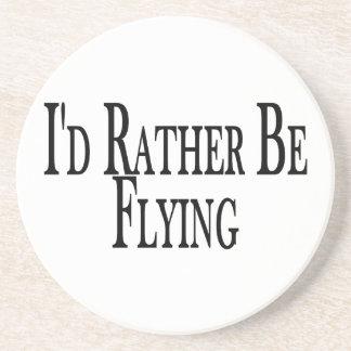Rather Be Flying Beverage Coaster