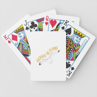 Rather Be Flying Bicycle Playing Cards