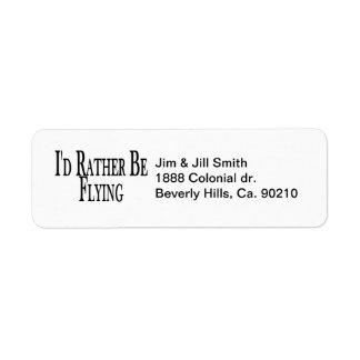 Rather Be Flying Custom Return Address Label