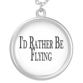Rather Be Flying Silver Plated Necklace