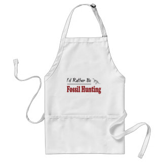 Rather Be Fossil Hunting Adult Apron