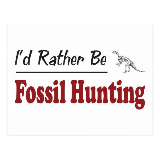 Rather Be Fossil Hunting Postcard