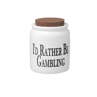 Rather Be Gambling Candy Jar