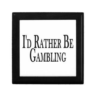 Rather Be Gambling Trinket Box