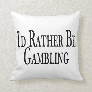 Rather Be Gambling Throw Pillow
