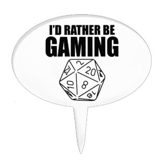 Rather Be Gaming (D20) Cake Topper